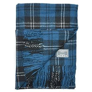 51j En49zQL. SS300  - The Tartan Blanket Co. Recycled Wool Blanket Ramsay Blue Tartan (150cm x 190cm)
