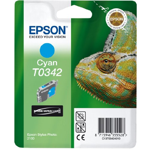 Preisvergleich Produktbild Epson T0342 Tintenpatrone Chamäleon, Singlepack, cyan