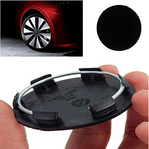 FeLiCia 50Mm Noir Roues De Voiture Centre Blanc Cap Hubcap Couvre Pas De Logo