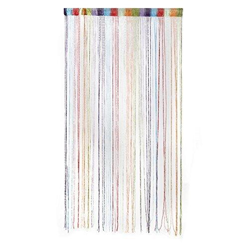 DealMux Dew Drop Glitter Schnur-Vorhang Panel-Wand-Tür Trennwand Raumteiler (Regenbogen) 100x200cm -