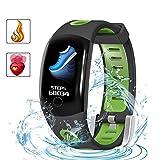 C-Xka Farbdisplay Drahtloser Fitness-Tracker IP68 Wasserdichtes Bluetooth-Tracker-Übungs-Armband zur Überwachung der Herzfrequenz und des Schrittzählers Anruferinnerung Kompatibel mit IPhone IOS & And