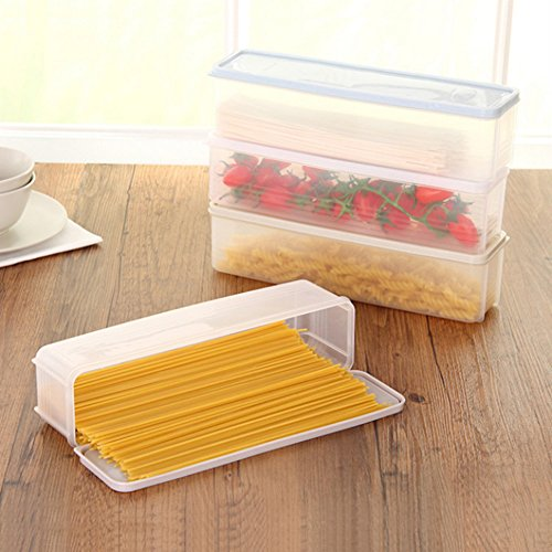 Quanjucheer contenitore alimentare, per spaghetti, da riporre in frigorifero o sulle scansie della credenza 30cm x 8.2cm x 8cm light green