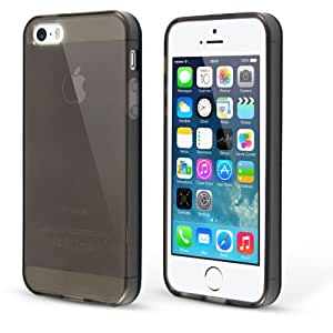 iPhone 5S Grau Hülle, Transparent Grau Silikon Schutzhülle Ultra Dünn Handyhülle für iPhone 5S/5 [Grau], Case Buddy TM