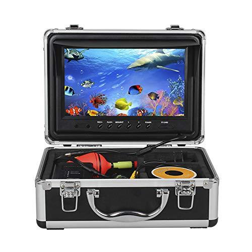 Aidashine Fischfinder, tragbarer 9-Zoll-LCD-Monitor, wasserdichter Unterwasser-HD 1000TVL-Fischerkamera, 50 m Kabel, 12 Stück IR-Infrarot-LED für EIS-, See- und Bootsfischen,InfraredLED Humminbird Humminbird Wandler