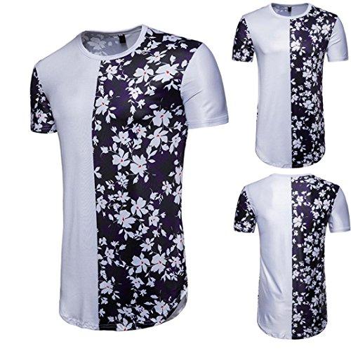 T-Shirt Top, Malloom Chemisier à Manches Courtes à Manches Courtes en Été