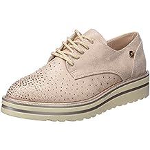 XTI 47800, Zapatos de Cordones Oxford para Mujer, Blanco (Hielo), 38 EU