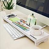 CYBERNOVA Escritorio de madera Organizador Pequeño Objetos teclado de almacenamiento de productos Estante