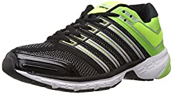 Columbus Mens Response Black and Green Mesh Running Shoes - 7 UK (RESPONSEBLKGRN007)