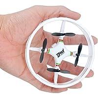 Kingtoys mini Quadrocopter Drohne Headless Modus Rückholen 3D Flip Funktion 2.4GHz 4 Achsen 4 Kanal Technologie Rund Design Drone leicht Bedienung, Weiß