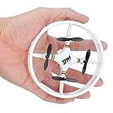 DW1 Mini Drohne Quadrocopter, Kollisionsschutz-Rahme Space Trek UFO Headless Modus Rückholfunktion 3D Flip Rund-Rotor-Schutz für Anfänger