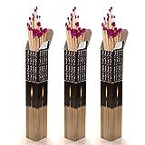 Scandia 270 XXL Streichhölzer 28 cm, 3 x 90 Stück, Grillanzünder, Anzündhölzer für Grill, Kamin, Kerzen, Windlichter, Pfeifen