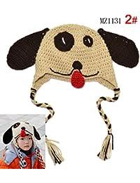 LadyMYP©Handgemachte Strickmütze, Kindermütze, Hüte, 100% Wolle, Babymütze_B43: Hund