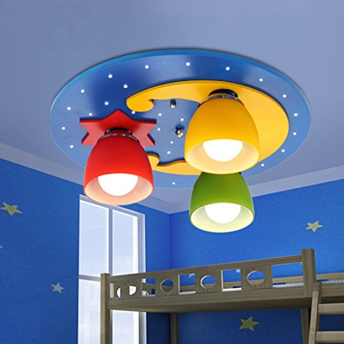 Ali pour enfants Chambre Plafonnier Creative Circulaire Xingyue éclairage Garçons Filles Lampes Chambre