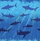 1 Tischdecke * HAIE * für Party und Geburtstag // Kindergeburtstag Table Cover Cloth Mottoparty Deko Hai Haifisch Shark Fische