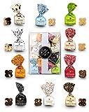 KauKau Geschenkset 140g Box: Antica Torroneria Tartufo Schokoladentrüffel Tartufi Trüffelpralinen in verschiedenen Verpackungsvarianten: Geschnkbox, Geschenkkorb, Präsentkorb oder mini Präsent (A) 140g
