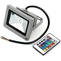 Eidyer Foco led exterior RGB de,10W RGB Foco LED Proyector de Exterior, cambio