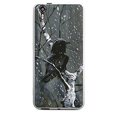 HTC Desire Eye Silikon Hülle Case Schutzhülle Rabe Wald Vogel