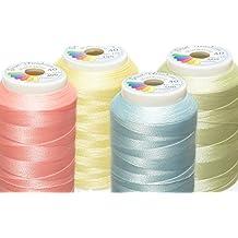 Multi Talent® máquina hilo de bordar Pastel Juego de 4x 1000m