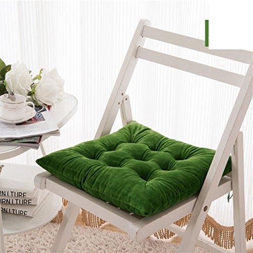 Indoor outdoor stuhl kissen 40 * 40cm sitzkissen für stühle braun 2er set-I 40x40cm(16x16inch) (Stuhl-kissen 16x16)