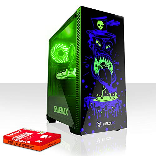 Fierce Gobbler RGB Gaming PC - Schnell 3.8GHz Quad-Core AMD Athlon X4 950, 2TB Seagate FireCuda Solid State Hybrid Drive, 16GB 2400MHz, NVIDIA GeForce GTX 1050 Ti 4GB, Windows Nicht Enthalten 821880