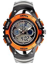 Reloj electrónico de múltiples funciones personalizado / tabla doble impermeable de los niños del tiempo del tiempo / tabla de salto de los deportes , orange