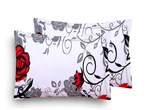 Home Elite Designer Printed 2 Piece Cotton Pillow Cover Set - 17