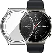 UEKING Case With TPU Film For HUAWEI Watch GT 2 Pro. All-Inclusive Anti-Drop Electroplating Cover With Screen