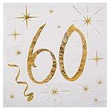 Servietten mit goldenen Schriftzug 18, Geburtstagsservietten 18 gold (60)