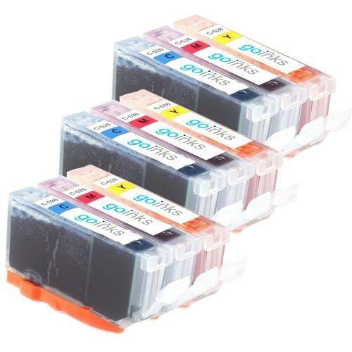 Preisvergleich Produktbild 3x Canon CLI-526 C/M/Y Farbe Set (9 Tinten) - Kompatible Druckerpatronen Cyan / Magenta / Gelb für Canon Pixma iP4850, iP4950, iX6550, MG5150, MG5250, MG5320, MG5350, MG6150, MG6220, MG6250, MG8150, MG8170, MG8220, MG8250, MX885 (Inhalt: CLI-526C, CLI-526M, CLI-526Y)