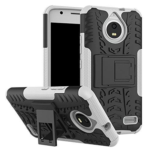 QiongniAN Cover per Motorola Moto E4,Staffa Antiurto Custodia per Motorola Moto E4 XT1760 XT1762 XT1763 XT1764 XT1767 XT1767PP XT1768 XT1769 / Moto E Gen 4 Custodia Case Cover White