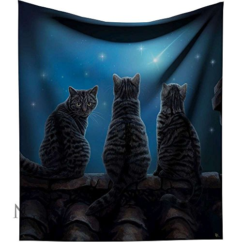 Lisa Parker - Wish Upon a Star Throw - Tabby cat - 160cm - Designer throw collection