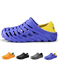 OUTVIE Zuecos de Los Hombres Zapatillas Ligeras y Transpirables Zapatillas de Agua de Secado Rápido Mulas Antideslizantes Sandalias de Jardín Para Deportes de Playa Al Aire Libre