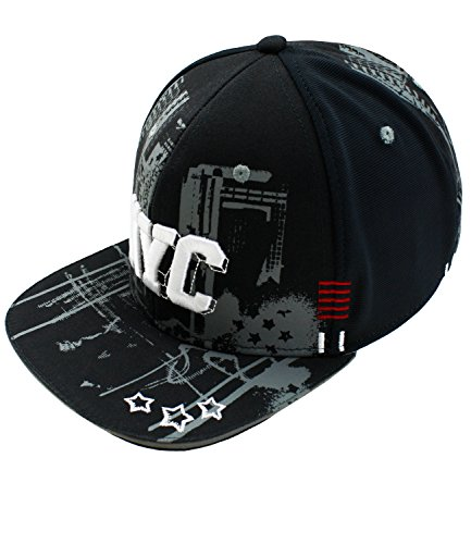 Maximo Jungensnapback Snapback Cap Flat Visor Basecap Schirmmütze Schildmütze New York City für Kinder (MX-73503-797800-S17-JU3-0076-55) in Holzkohle, Größe 55 inkl. EveryKid-Fashionguide (Hip-hop-holzkohle)