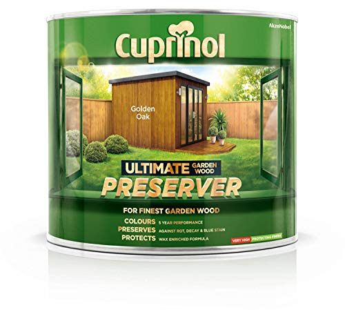 Cuprinol Ultimate Garden Wood PreserverHolzschutzmittel CUPGWPREGO1L, Farbe: Golden Oak, 1 Liter