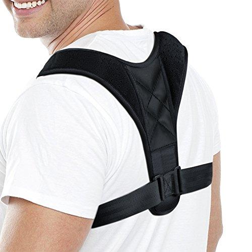 Verstellbare Haltungskorrektur Geradehalter Schulter Rücken Haltungsbandage Schlüsselbein Schulter unterstützung bei Rücken-und Schulterschmerzen Männer und Frauen(Einstellbare Größe)