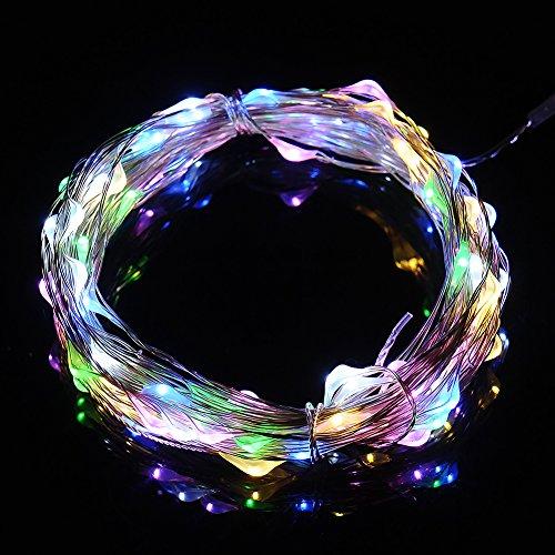 Per 12m 100 LEDs USB Lumineuse Chaîne Fée Lumière - Cuivre Fil Lumière étoilée, pour Arbres de Noël, Mariage, Soirée Jardins, Pelouses, Patio - 4 couleurs disponibles (Couleurs)