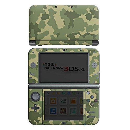 Case Skin Sticker aus Vinyl-Folie Aufkleber Muster Grün Camouflage (New Nintendo 3ds Xl Grün)