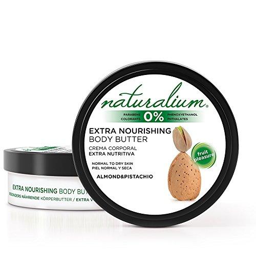 Naturalium Argán y Nuez de Brasil - Crema Corporal Extra Nutritiva para Piel Normal y Seca, Sin Colorantes, Sin Parabenos, formato 200 ml