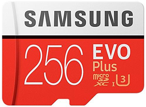 Foto Samsung MB-MC256GA/EU EVO Plus Scheda MicroSD da 256 GB, UHS-I, Classe U3, fino a 100 MB/s di Lettura, 90 MB/s di Scrittura, Adattatore SD Incluso