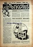 BRICOLUS [No 19] du 01/03/1949 - TABLE-DESSERTE ROULANTE