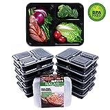NALATI Meal Prep Container 3-Fächer Lebensmittelbehälter 10 Stücke Frischhaltedosen Set Aufbewahrungsbox BPA Frei Kunststoffbehälter Lebensmittelbox mit Deckel Lunchbox mit Fächern für Weight Watchers Gesunde Mahlzeiten Essen Bodybuilder für Kinder und Erwachsene (Mode 3)
