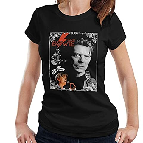 David Bowie 1947-2016 Tribute Women's T-Shirt