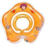 Salvagente Collo Neonato - Regolabile Galleggiante Gonfiabile del Collo di Nuoto dell'infante per 1-18 Mesi Baby (Arancione)