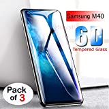 Mobistyle Full Glue Edge-to-Edge Screen Protection 6D Tempered Glass for Samsung M40 [Sale Period Introductory Price] (Pack of 3)