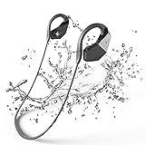 Massway Bluetooth 8GB Wasserdichte MP3 Player Ohrhörer IPX8 HiFi Stereo Ohrhörer Integrierte Mikrofon mit Noise Cancelling Tech für Schwimmen, Laufen, Training, Unterwassersport