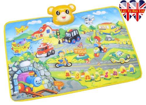 Preisvergleich Produktbild Spiel-Matte Aktivität Matten Musical Teppich Spielmatte Bildungs Teppich Voice of Cars Flugzeug Bahn Musics