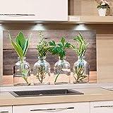 GRAZDesign Küchenrückwand Glas-Bild Spritzschutz Herd |Edler Kunstdruck hinter Glas | Bild-Motiv Gewürze | Eyecatcher für Zuhause / 80x60cm