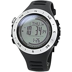 [LAD WEATHER] 100 Meters waterproof Altimeter Barometer thermometer Storm alert Outdoor Step counter Calorie consumption Mountain data Unisex watch