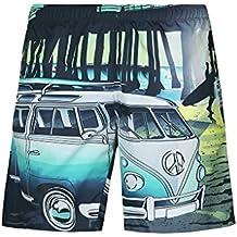 NiSeng Hombres Impresión Bañadores Cortos Para Surf Shorts Boardshorts Pantalones Cortos De Playa