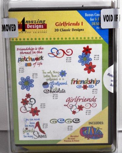 Amazing Designs Freundinnen I Stickerei CD, adc-63tk (Stickerei-software)